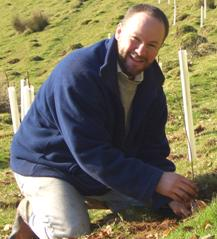 Photo of self tree planting at Bratton Fleming